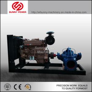 Motor diesel de 14 pulgadas de la bomba de agua para riego salida