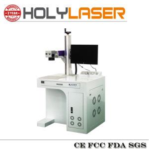 Faciles à grande vitesse portent la machine d'inscription de laser de fibre