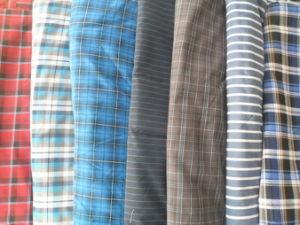 100GSM P/C Tingidos de fios de tecido Camisa