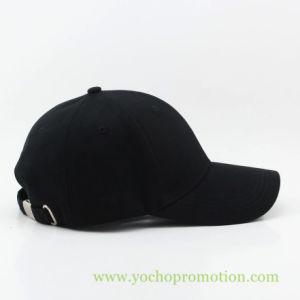 A cor preta 100% algodão Boné Sarjado com fecho de Travamento