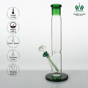 17 gerades Gefäß-grosse Glaspfeife des Zoll Illadelph Art-Grün-60X5mm