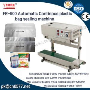 Fr-900 continua bolsa de plástico para las bebidas de máquina de sellado