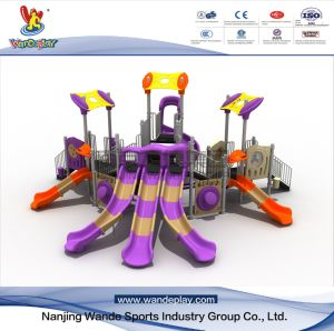 Slide de plástico do parque de diversões de brinquedos para crianças crianças Equipamento parque ao ar livre
