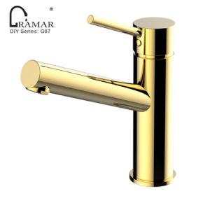 Design italiano latão cromado de banho de Ouro Preto Torneira Lavatório
