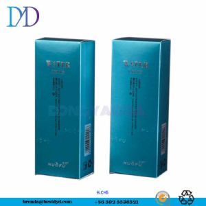 Color azul plateado estampado Crema Hidratante de embalaje caja de embalaje de papel plegado