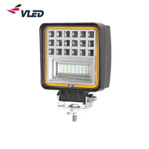 48W de amber Vierkante LEIDENE van het Graafwerktuig van het Voertuig van de Techniek van de Tractor van de Vorkheftruck van de Reflector DRL van de Ogen van de Hoek 3D Landbouw Lichte Hulp AutoLampen van het Werk