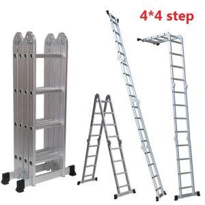 4*4 шаги и 4,7 метров Складной алюминиевый материала универсальной полимочевинной консистентной смазкой с лестницы безопасности малых петли