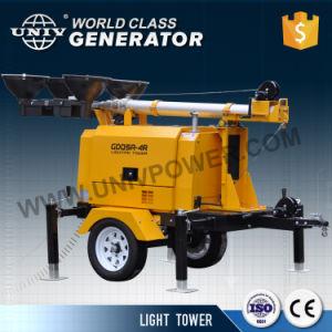 De diesel Lichte Generator van de Toren 9 Meters van de Mast met Motor Kubota