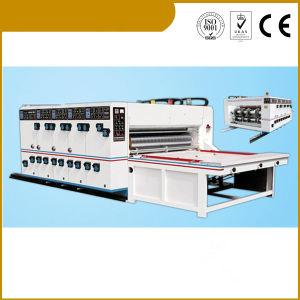 Tecla Semi-Auto 2 Cores Impressora de papelão Slotter e Cortador de chip
