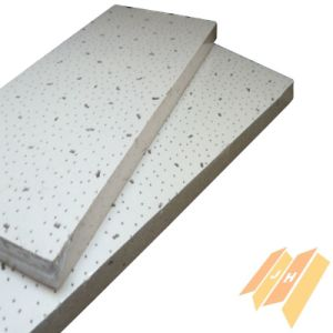 Moistureproof acústico de fibra mineral incombustible techo B0110)