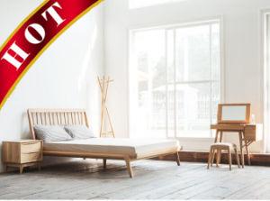 Американского дуба главная спальня, современной деревянной мебелью с одной спальней и гостиной