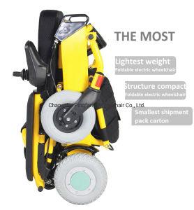 Silla de ruedas eléctrica fiable con reposapiés ajustable para ancianos CE, ISO13485, ISO9001