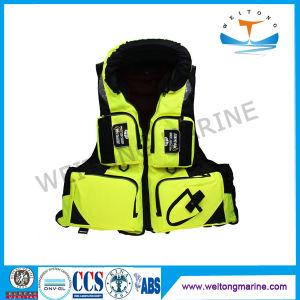 À prova de nylon que salvam vidas vida insuflável Desportos Jacket colete de Segurança da Vida Marinha Vest para Kid/criança