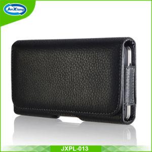 iPhone 7のためのユニバーサル袋のHosterベルトクリップウエストPUの革カバー袋の電話箱