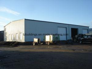 La estructura de acero de construcción prefabricados utilizados para la casa de negocio