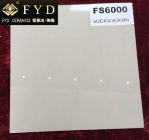 Fydの陶磁器Fs6000アイボリーの白い溶ける塩の磨かれたタイル