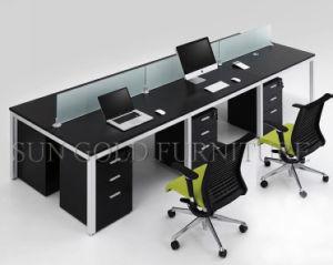Klassiek zwart elegant werkstation 6 van het bureau van het ontwerp
