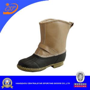 La moda de hombre superior de la PVC caqui Nieve del invierno las botas (XD-171)