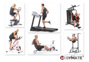 Artículos deportivos Gymate Cardio Fitness giro vertical estacionaria magnético ejercicio bicicleta reclinada