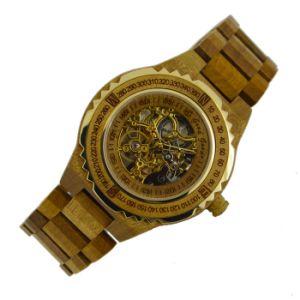 Relógio de forma de madeira Bg438 do movimento automático novo de Japão do estilo