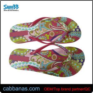 PE Fancy Beach Flip Flops avec l'attache de l'impression pour les femmes