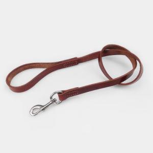 Artículos para mascotas perro cuerda de tracción de la correa de cuero de gran perro perro Correa del perro de la piel de la correa de perro