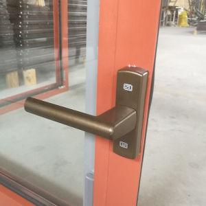 Rupture thermique fenêtre en aluminium avec revêtement en bois de la fenêtre de l'intérieur