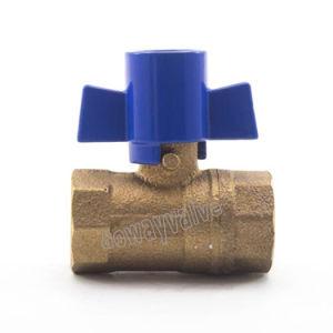 Medidor de agua de bronce femenino válvula bloqueable