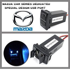 Caricatore veloce 5V del USB delle porte del supporto aus. doppio del cruscotto per l'automobile di Mazda