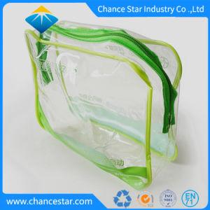 カスタム透過プラスチック縫うジッパー明確なPVC化粧品袋