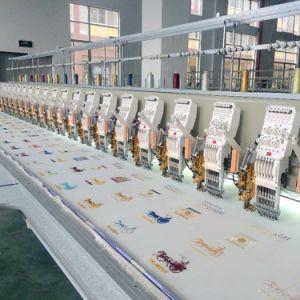 Il più nuovo multi macchinario ad alta velocità automatizzato del ricamo più poco costoso per il ricamo della maglietta della protezione piana con il più nuovo sistema di controllo di Dahao