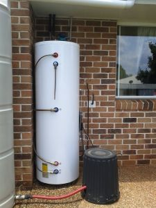 Split calentador de agua solar de acero de color