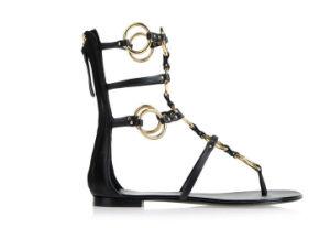 Nouveau style à plat Chaussures femmes07-21 avec fermeture à glissière (SH)