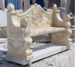 石造りの彫刻の花こう岩の椅子を切り分ける庭