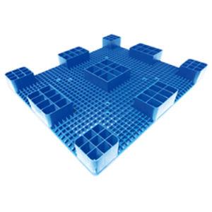 Deck duplo reversível confrontados paletes de plástico de armazenamento