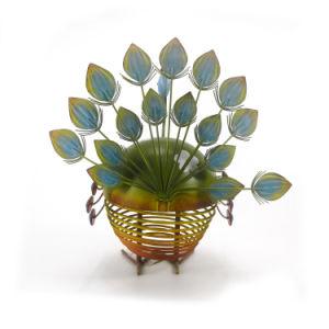 Jardín escultura metálica Peacock Ornamento para la decoración de jardín