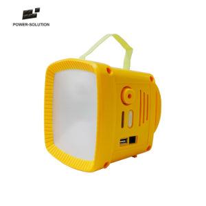 Nouveau Designe Lanterne solaire rechargeable avec radio, chargeur USB, indicateur de niveau de batterie