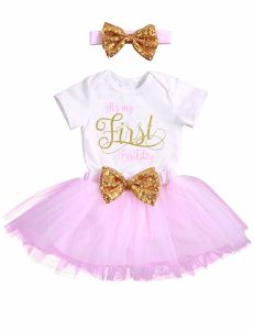 39e15209a Niña ropa Smash Shinny Romper Sequin Bow Tutu Rosa Princesa falda ...