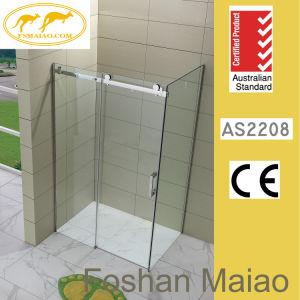 Retângulo de vidro temperado de aprovação australiano Chuveiro sem caixilho Gabinete (H001E)