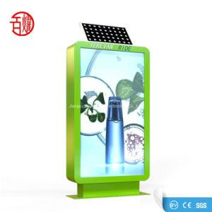 Sistema Solar City parte pública da estação de bicicletas Publicidade Caixa de Luz