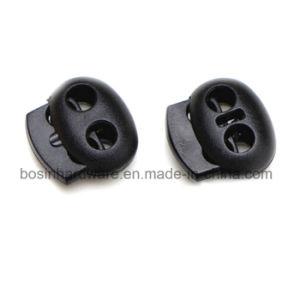 Dos orificios de bloqueo de cable de plástico