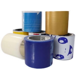 Venda por grosso adesivo plástico transparente Black-White azul PE películas de protecção temporária para Protecção de superfície