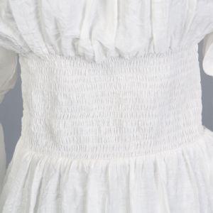 América Banco estilo europeu de Manga Longa Branca Blusa Lace Top