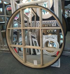 Ronde Galerie chic français cadre en bois miroir murale