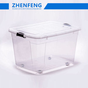 De hoogste Doos van de Verpakking van de Gift van de Container van het Voedsel van de Materiële Opslag van de Producten pp van de Transparantie van de Kwaliteit het best Duurzame Hoge Duidelijke Plastic met de Levering voor doorverkoop van de Deksels van Wielen