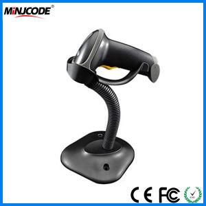 Handfree Laser Scanner de code à barres avec le support titulaire, Autosense Lecteur de codes à barres 1D, lecteur de codes à barres de vente au détail de supermarchés, MJ2808à