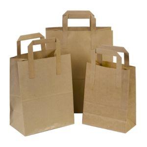 Impressão personalizada sacola preta embalagem impresso da marca comercial de saco de papel