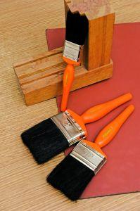 우량한 색칠은 2를  자연적인 강모 및 나무로 되는 손잡이를 가진 페인트 붓 도구로 만든다