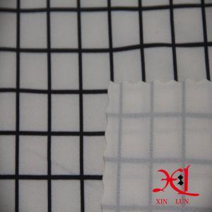 Tejido de gasa de poliéster con vestido de la impresión digital