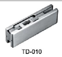 Aplicação de patches em aço inoxidável da dobradiça de alumínio da porta de vidro